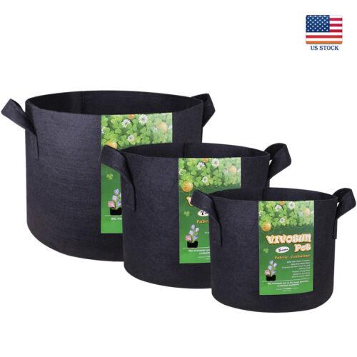 5 packs fabric plant pots grow bags