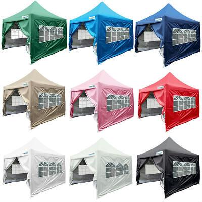 Quictent 8'x 8' Waterproof EZ Pop Up Canopy Party Tent Gazeb