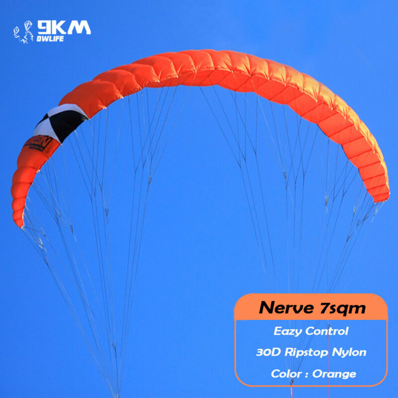 7sqm Quad Line Traction Power Kite for Parachutes Beach Surfing Skydiving Sports
