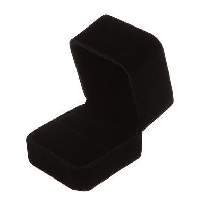Large Velvet Ring Display Box Case Tray Jewelry Gift Box -- Black M6d7