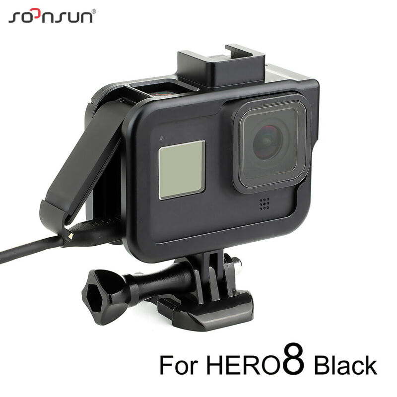 Aluminum Alloy Protective Frame Housing Case Border Mount for GoPro Hero 8 Black