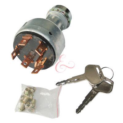 Excavator Starting Switch Ignition 2 Keys F Komatsu Pc-7 Pc200-7