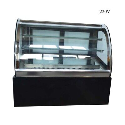 220v Countertop Refrigerated Cake Showcase Display Cabinet With Led Lighting