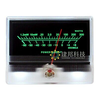 Tn-90a Panel Vu Meter Header Audio Db Power Amplifier Chassis W Backlight Led