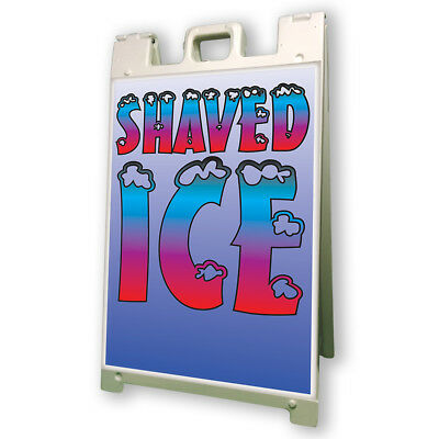 Shaved Ice Sidewalk Sign Retail A Frame 24x36 Concession Stand Outdoor Vinyl