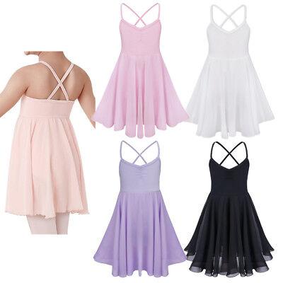 US Kids Girls Ballet Dance Dress Gymnastics Leotard Ballerina Dancewear - Ballerina Dress