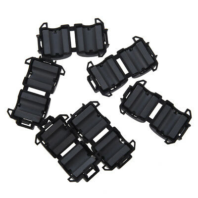 6 Pcs Black 8mm Dia Cord Ferrite Core Noise Suppressor Filters Ts