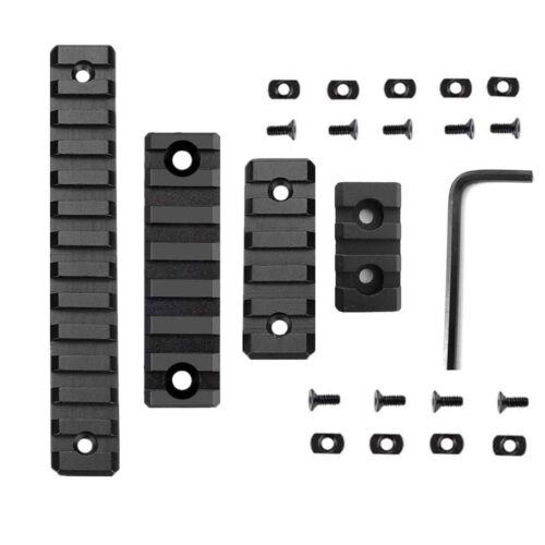 4 Pack M-LOK Aluminum 13 Slot 7 Slot 5 slot 3 Slot Rail Section Picatinny Weaver