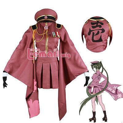 Vocaloid Miku Hatsune Senbon Sakura Kimono Uniform Cosplay Costume - Sakura Miku Kostüm