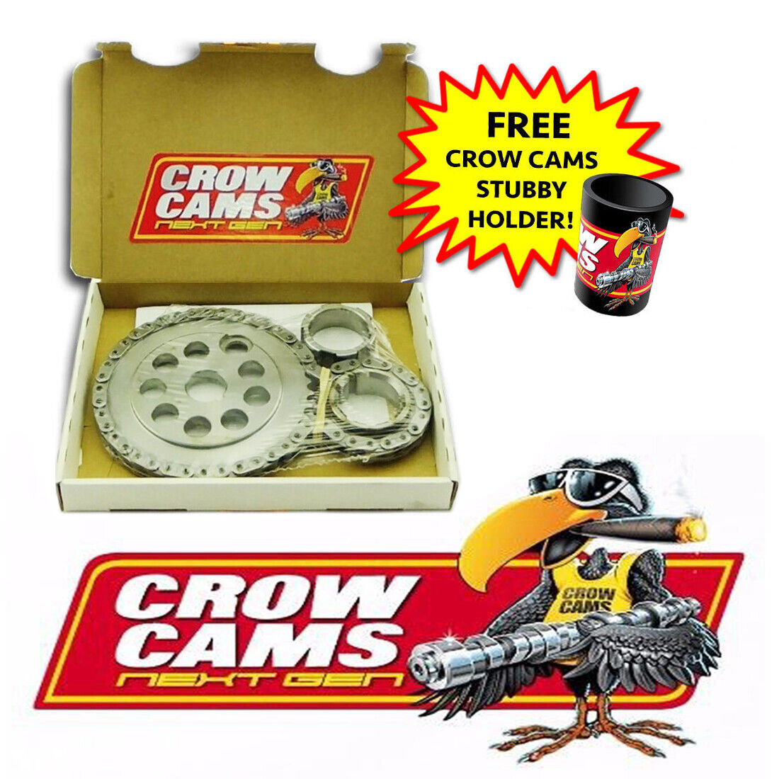Details about Crow Cams High Performance Timing Chain Set for Holden  Commodore V6 VS VT VX VY