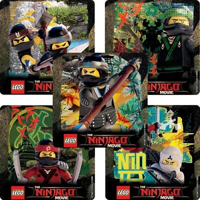 20 Lego Ninjago STICKERS Party Favors Supplies Birthday Treat Loot Bags