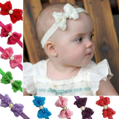 6 Colors Shiny Bowknot Kid Baby Girl Children Headband Hair Band Bow Accessories