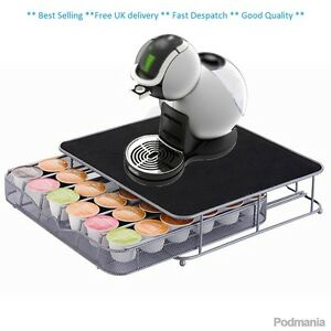Coffee machine stand capsule pod holder storage drawer dolce gusto ebay - Rangement dosette dolce gusto ...