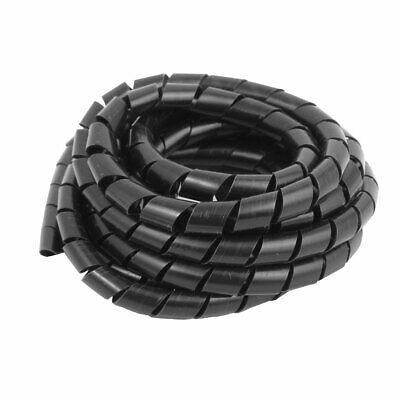 2.7M Largo 10mm Dia exterior tubo flexible en espiral enrollado cable ordenador