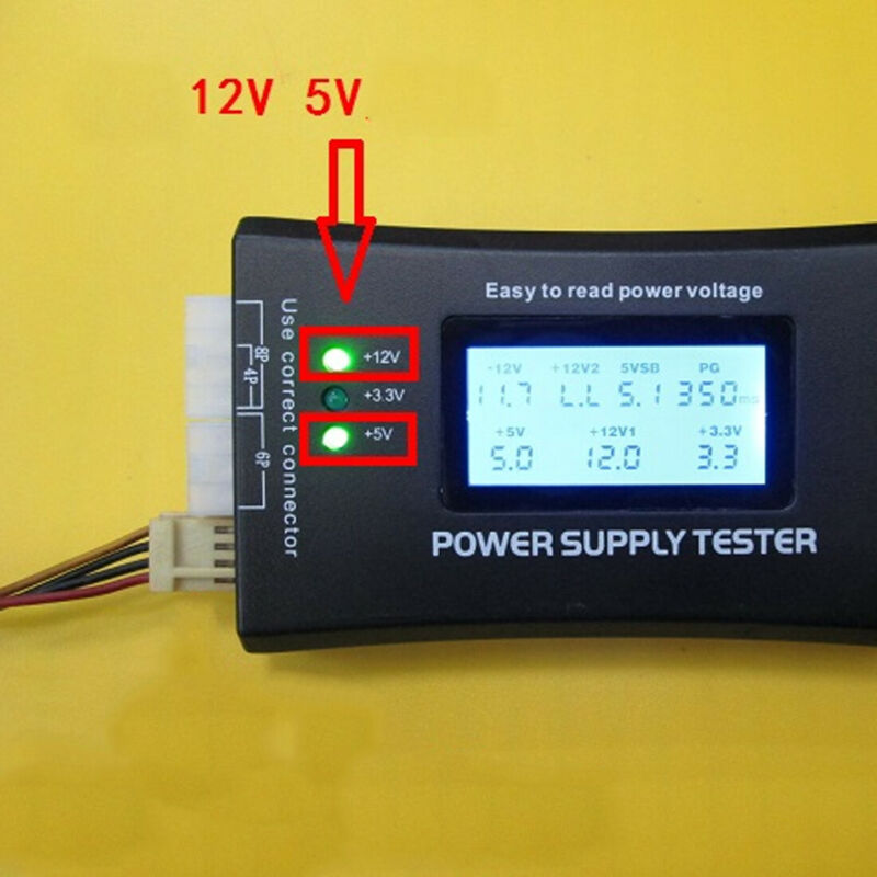 Sensitive Digital LCD Display PC Tools Diagnostic Measuring Checker Tester