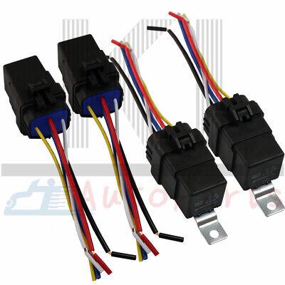 4 Pcs 12v 40 Amp Car Auto 5 Pin Wire Relay Waterproof Plug Socket Heavy Duty