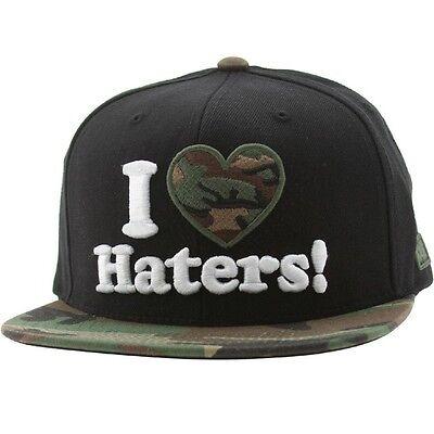 DGK Haters Snapback Cap (black / woodlands)