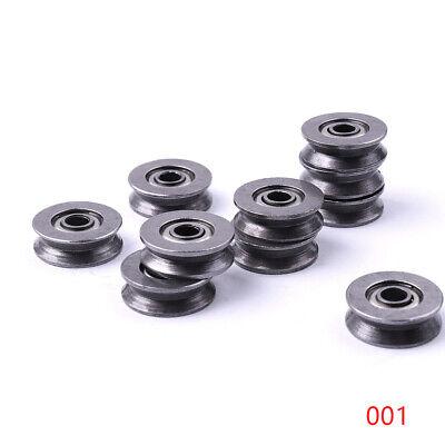50 Pcs V-deep Groove Ball Bearings Cnc Steel With High Carbon 3x12x4 Mm