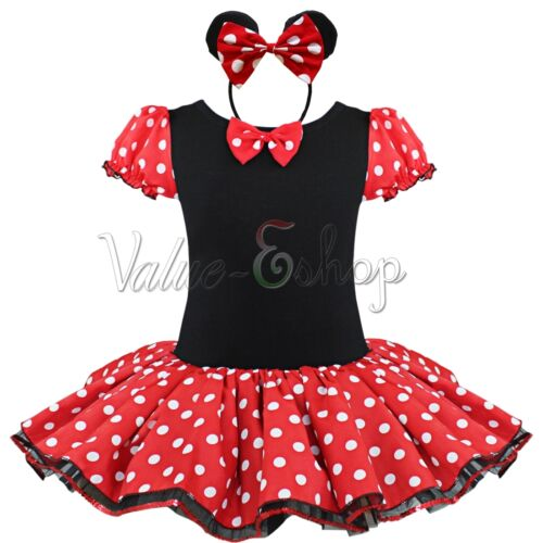 m dchen kost m party kleid minnie mouse karneval kost m. Black Bedroom Furniture Sets. Home Design Ideas