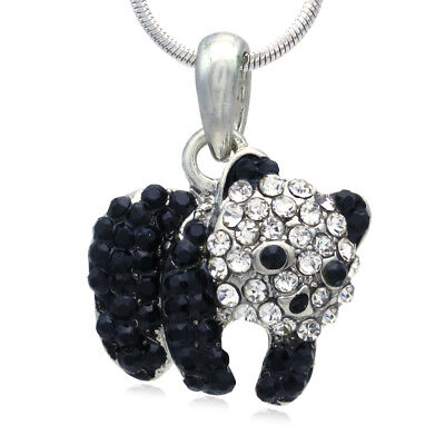 Cute Black White Panda Bear Necklace Pendant Charm for Animal Lovers Teens z2