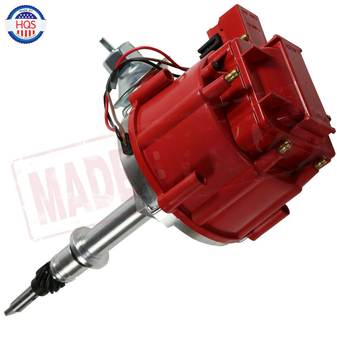 Photo Red HEI Ignition Distributor 6522R For GM 250 Chevy 292 230 Inline 6 Cylinder