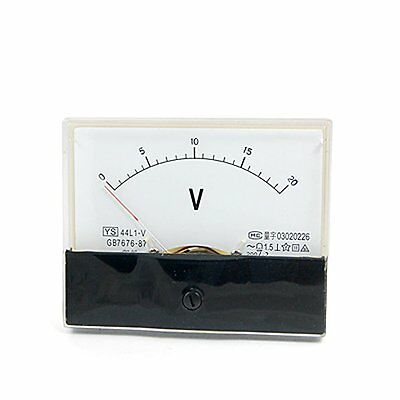 1 Pcs 44l1-v Ac 0-20v Rectangle Analog Panel Mount Volt Meter Gauge
