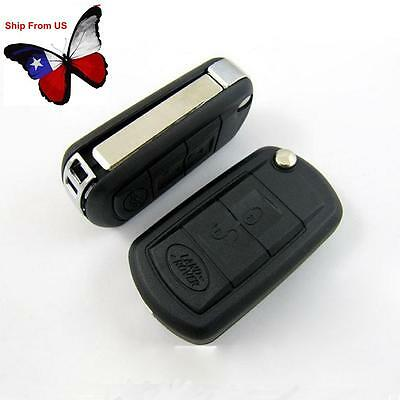 3 Buttons Folding Remote Key Shell Case Fit For Land Rover LR3 Range Rover Sport