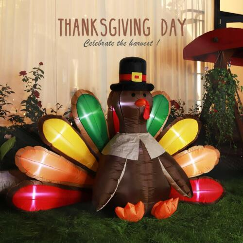 VIVOHOME 5'x7' Inflatable Turkey LED Airblown Thanksgiving O