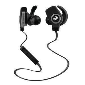 Monster iSport Superslim Wireless Bluetooth In Ear Headphones Black Brand New