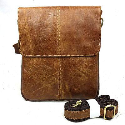 Men Genuine Leather Handbag Briefcase Laptop Shoulder Messenger Bag Tote Satchel
