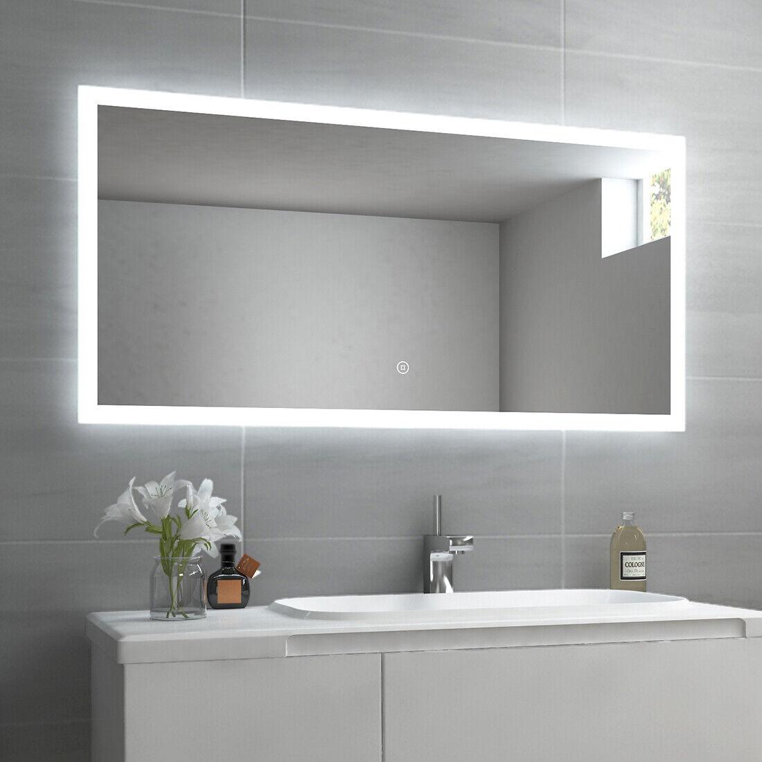 Badspiegel LED mit Beleuchtung mit Touch Badezimmerspiegel 60x80 100x60 120x60