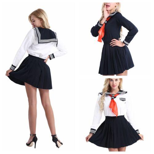 Sexy Women Naughty High School Girl Costume Fancy Dress -8849