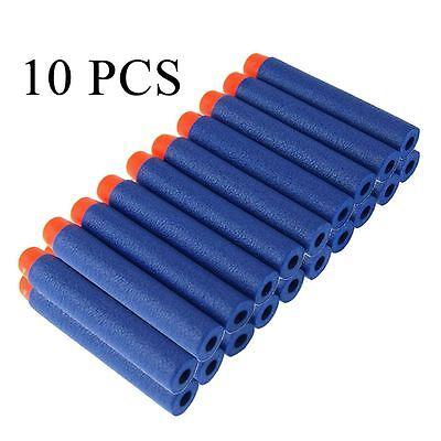 UK 10PCS 7.2cm Soft Nerf Gun Refill Bullets Darts For NERF N-Strike Series