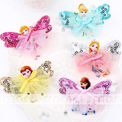 1PC Mixed Colors Cartoon Princess Design Girl Babies Hair Clip Accessories