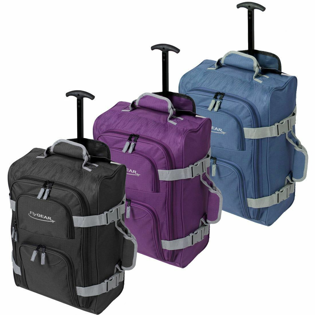 lightweight carry on cabin hand luggage suitcase wheeled. Black Bedroom Furniture Sets. Home Design Ideas