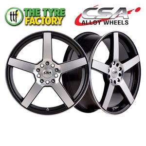 CSA ESSEN 15x6 5x108 Gunmetal Black M-Face Alloy Wheels Perth Perth City Area Preview