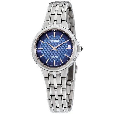 Seiko Essentials Quartz Movement Blue Dial Ladies Watch SUP393 **Open Box**