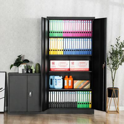 Lockable Heavy Duty 72h Tool File Storage Metal Cabinet 4 Adjustable Shelves