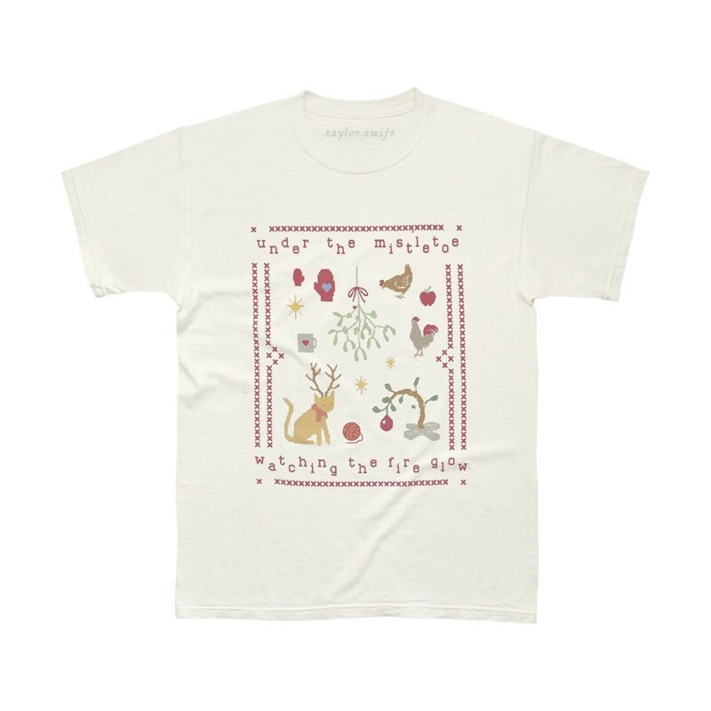 Taylor Swift XL Christmas Tree Farm Under Mistletoe Shirt