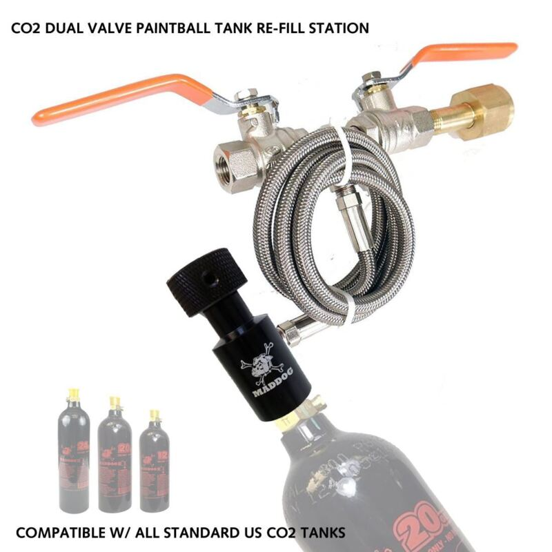 Maddog Paintball CO2 Fill Station Dual Valve Bottle Refill Station From Home