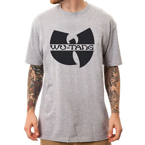 Wu-Tang-Clan-logo-Hip-Hop-Rap-unisex-Grey-t-shirt
