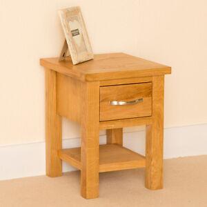 Newlyn lamp table oak side table small 1 drawer end for Z oak lamp table