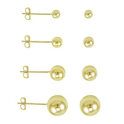 14k Gold Filled High Quality Polish Classic Ball Stud Earrings -Choose your Size 14k Gold Fill Earrings