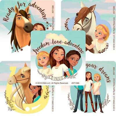 20 Spirit Riding Free STICKERS Party Favors Supplies Birthday for Treat Loot Bag](Suitcase Party Favors)