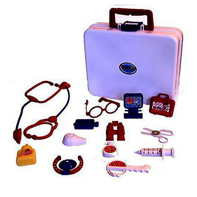 Kids 15 Piece Little Doll Medical Doctors Kit Adorable Accessories Role Play Set