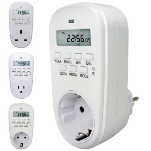 Timer Switch Socket Digital LCD power à économie d/'énergie Plug-In Us Socket 120 V 15 A