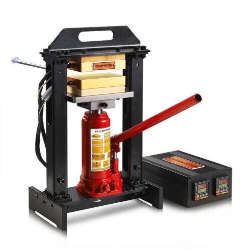 """Dabpress 6 Ton Hydraulic Rosin Heat Press Machine   3x5"""" Heat Press Plates Kit"""
