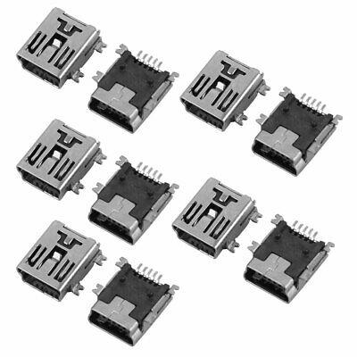 10 piezas de soldadura tipo Mini USB 5 P conector hembra de...