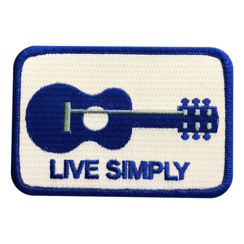 Live Simply Guitar Logo The Expendables Movie iron on Sew on Patch (LIV5)