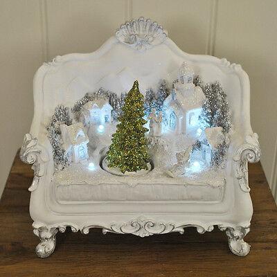 LED Tree Scene on Antique Sofa Christmas / Xmas Decoration by Kingfisher